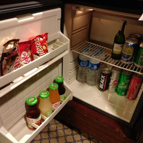 Conrad Cairo Executive Room Minibar