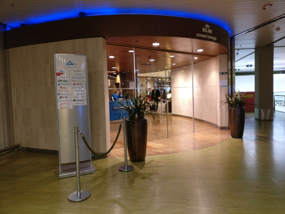 KLM Crown Lounge Amsterdam 25 Entrance