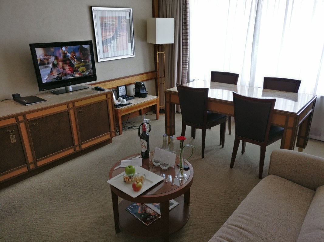 InterContinental Prague Junior Suite Living Room