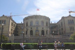 Oslo The Storting Building Parliament