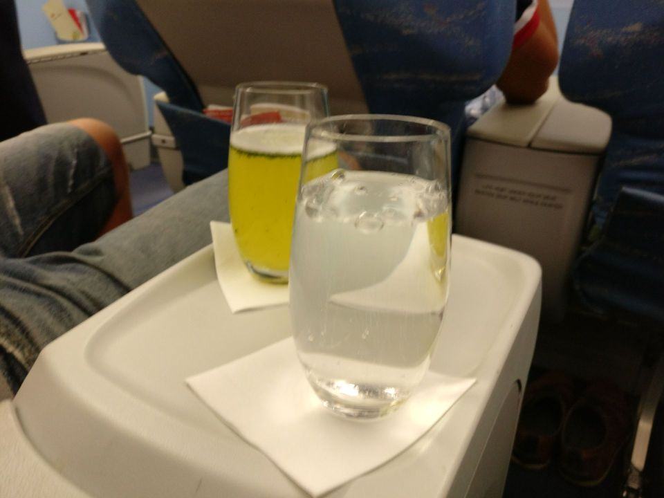 Philippine Airlines regional Business Class Welcome Drink