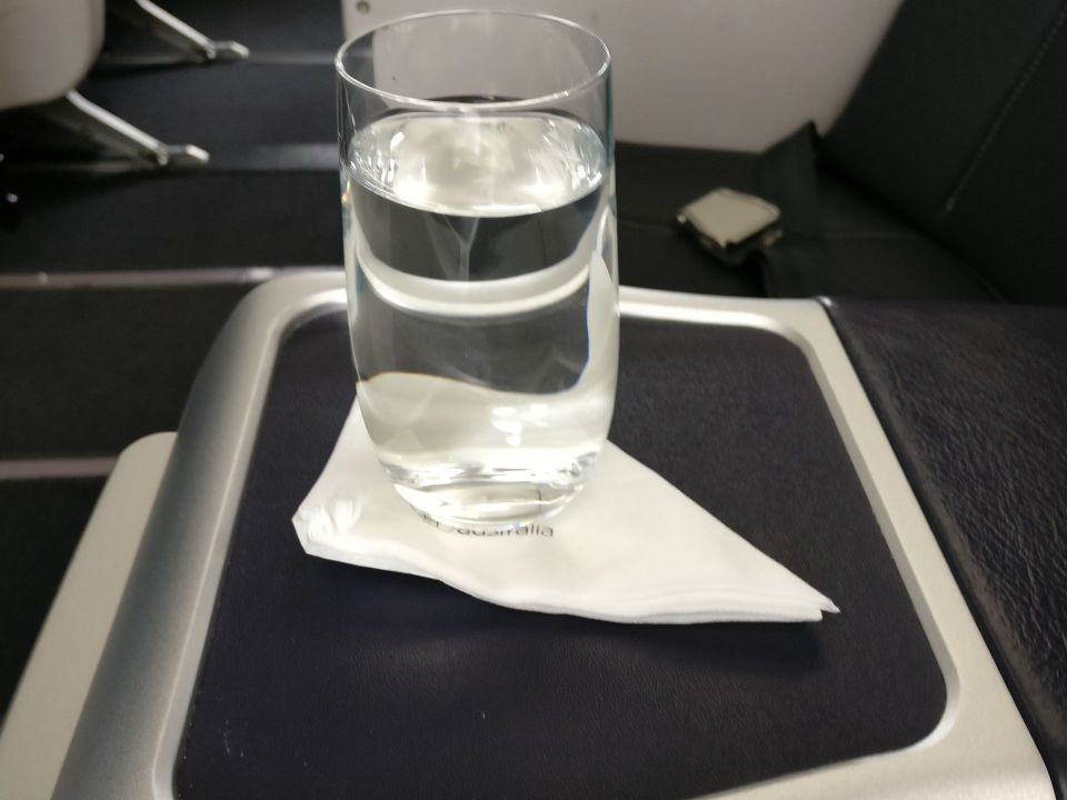 Virgin Australia Domestic Business Class Welcome Drink