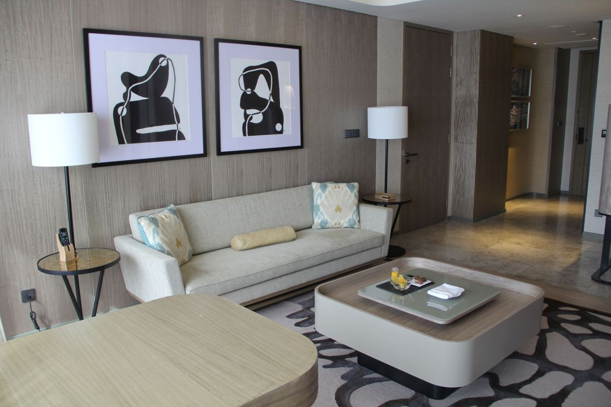 Conrad Manila King Premier Suite Living Room