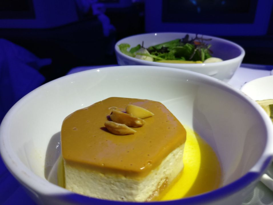 LATAM Business Class Boeing 787-9 Dinner