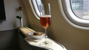 Lufthansa First Class Welcome Drink