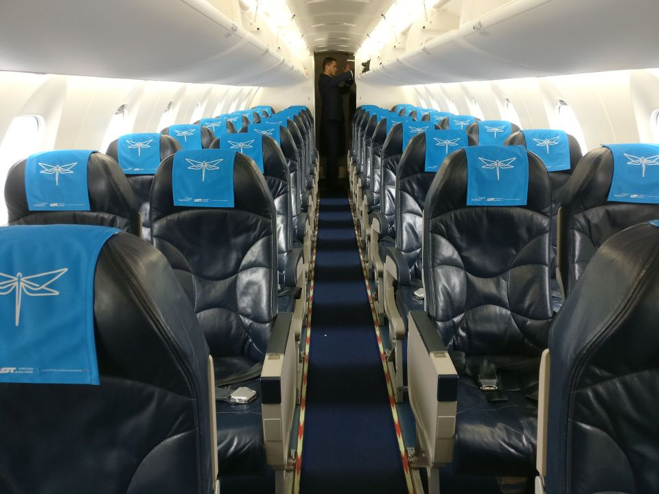 Nordica Economy Class CRJ 900 Seating