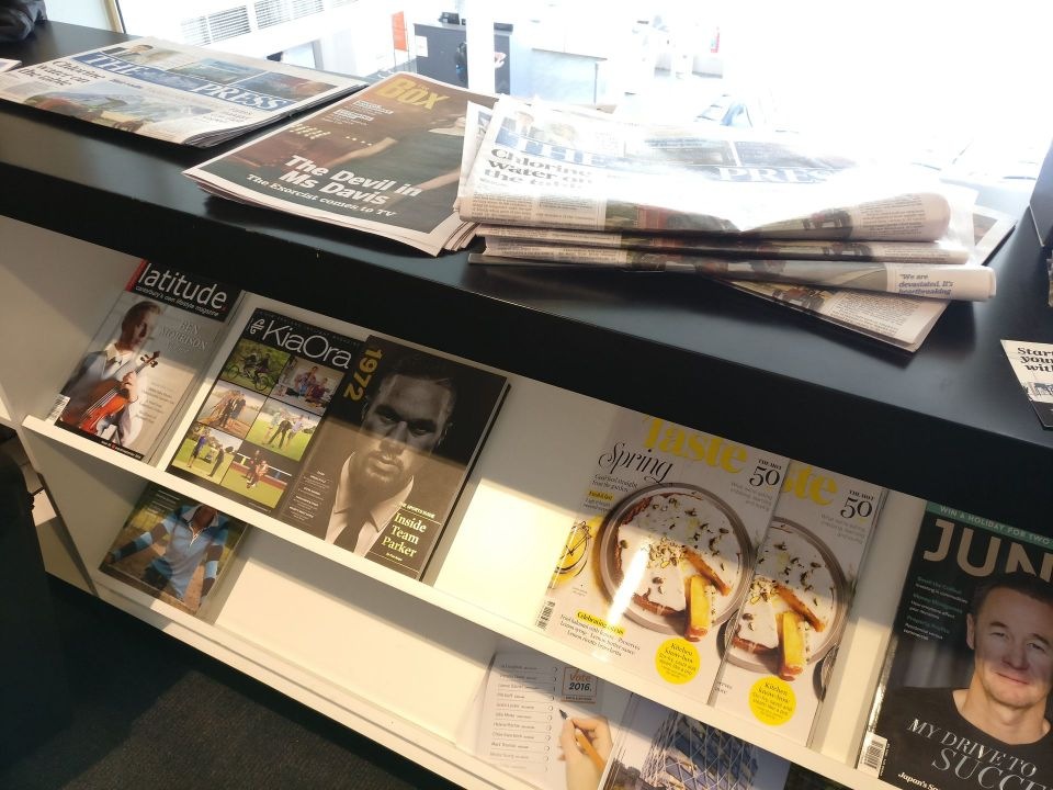 Air New Zealand Koru Lounge Queenstown Newspapers