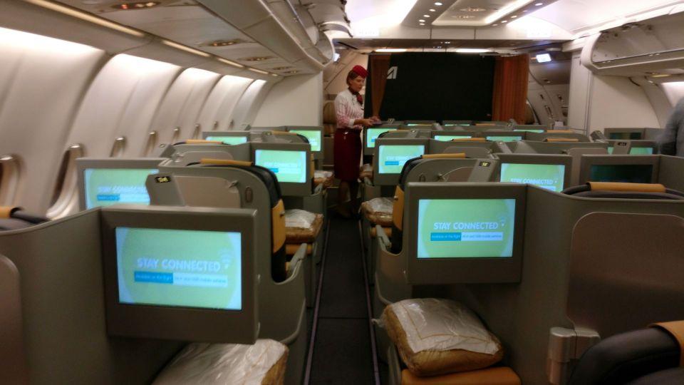 Alitalia Business Class Airbus A330 Cabin