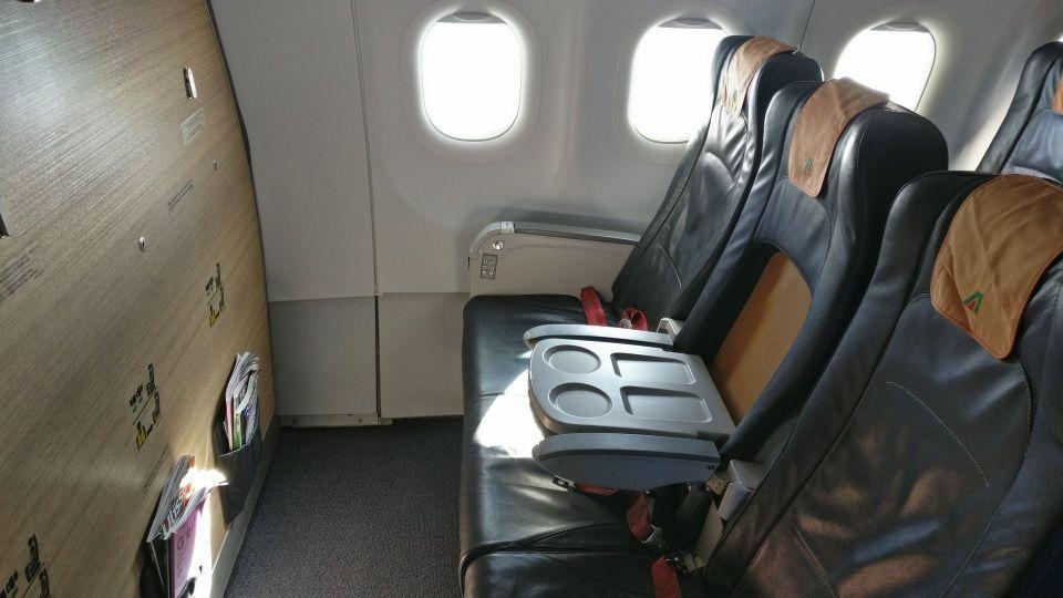 Alitalia Business Class Airbus A320 Seats