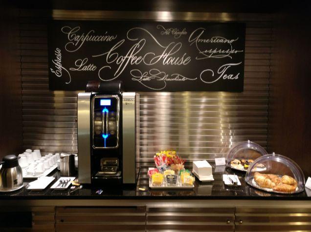 British Airways Lounge Milan Buffet