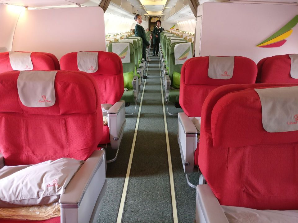 Ethiopian Airlines Business Class Boeing 737 Cabin