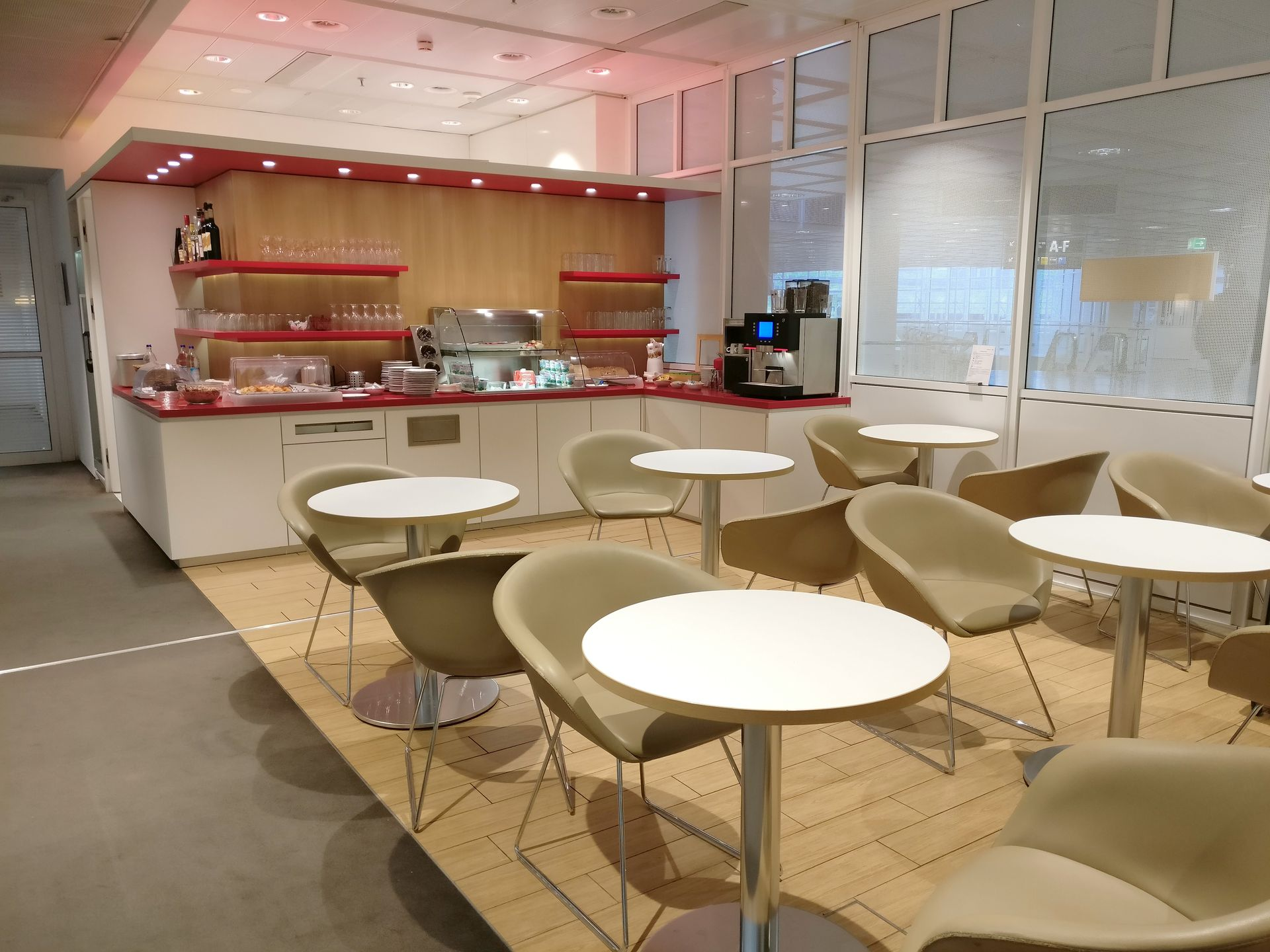 Air France Lounge Munich Seating