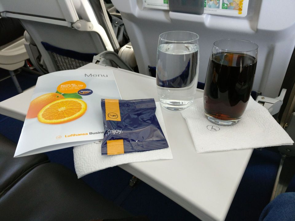 Lufthansa medium haul Business Class Snack