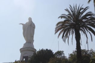Virgin Mary Statue Santiago de Chile