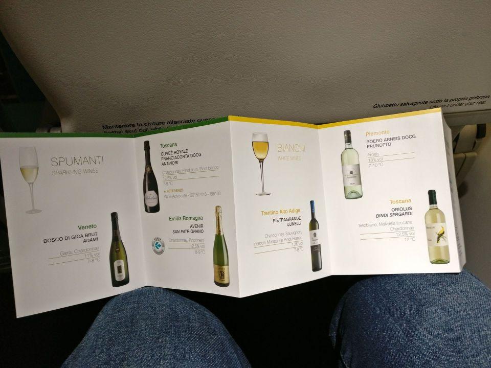 Air Dolomiti Business Class Wine