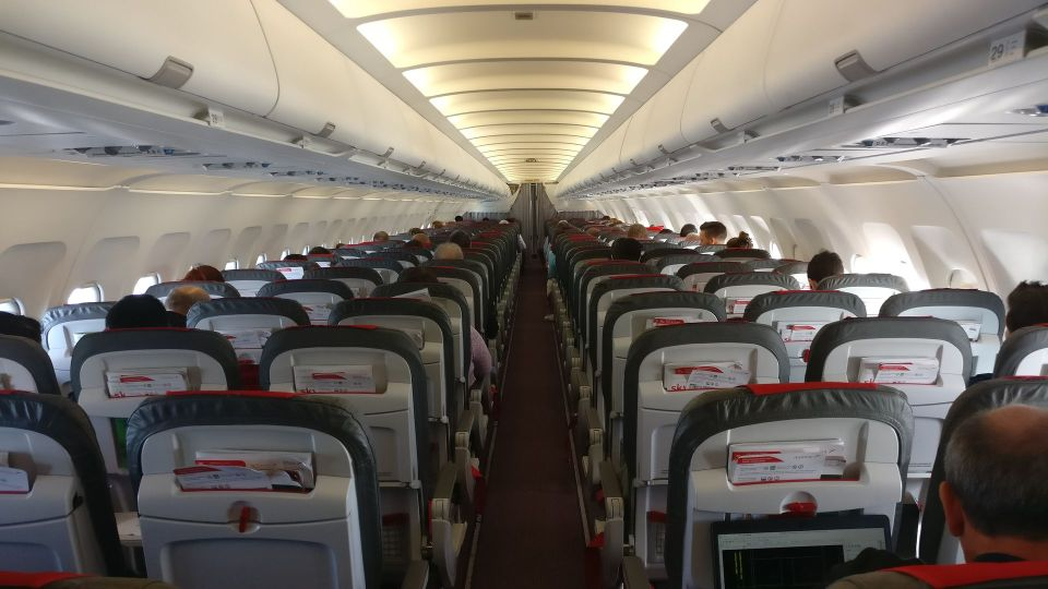 Austrian Airlines regional Economy Class Cabin