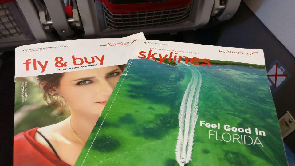 Austrian Airlines regional Economy Class Magazines