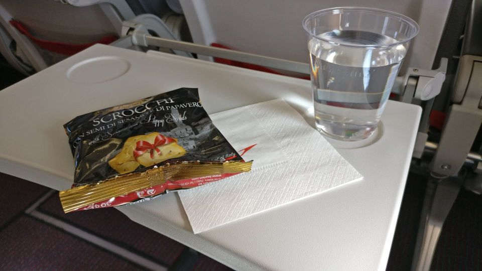 Austrian Airlines regional Economy Class Snack