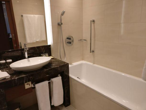 DoubleTree Warsaw Convention Centre Executive Room Bathroom