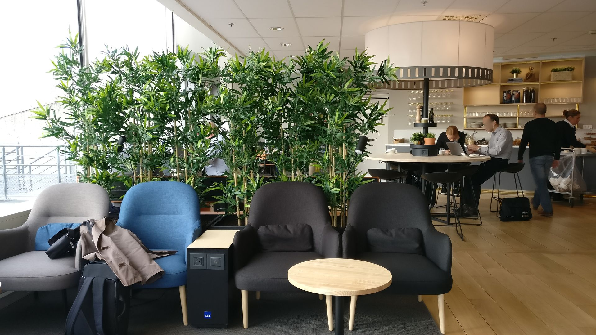 SAS Lounge Paris CDG Seating