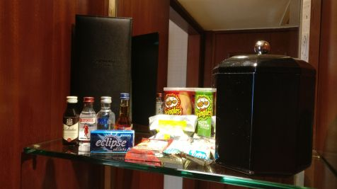 Conrad Hong Executive Peak Suite Minibar