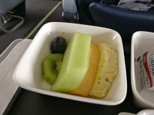 Oman Air Business Class Boeing 737 Breakfast