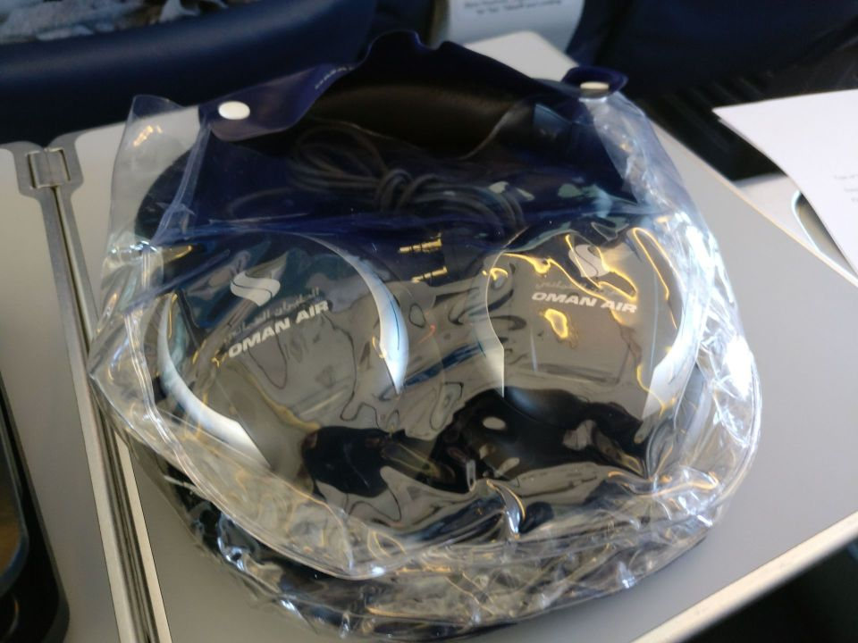 Oman Air Business Class Boeing 737 Headphones