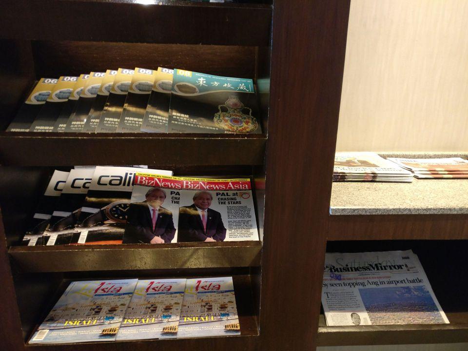 Philippine Airlines Mabuhay Lounge Manila Magazines