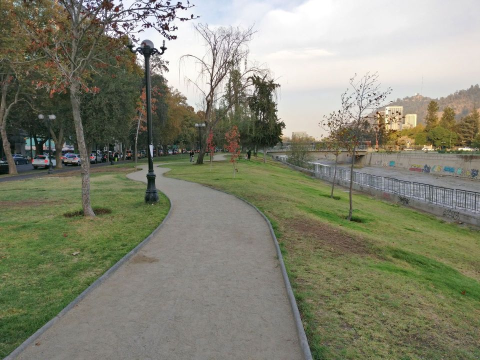 Running in Santiago de Chile