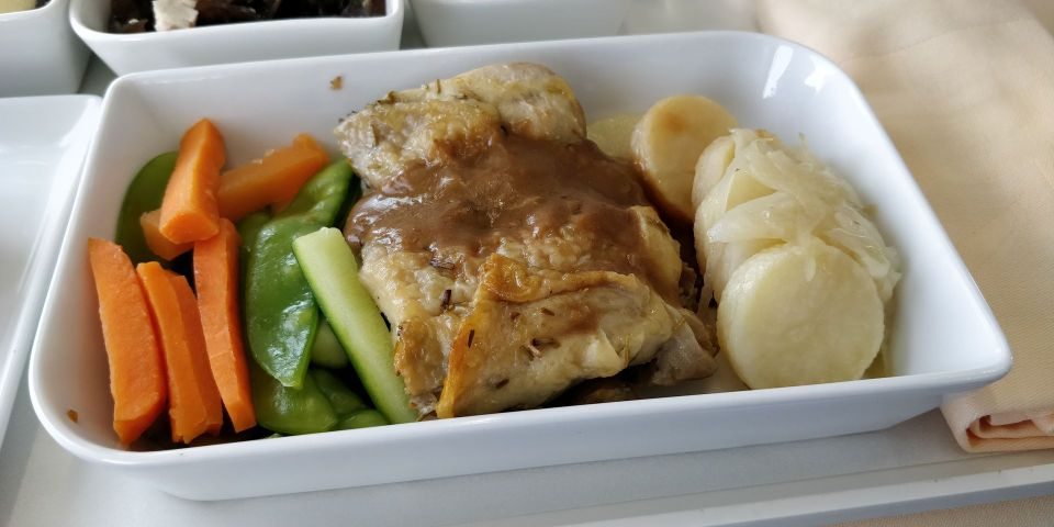 Silk Air Business Class Boeing 737 Lunch