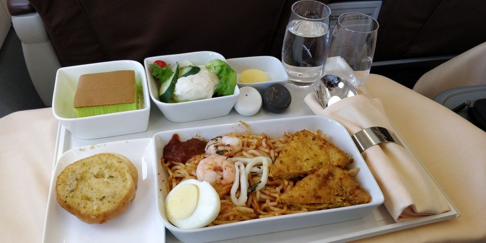 Silk Air Business Class Lunch