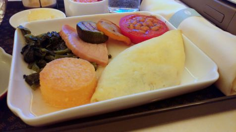 China Airlines Business Class Airbus A350 Breakfast