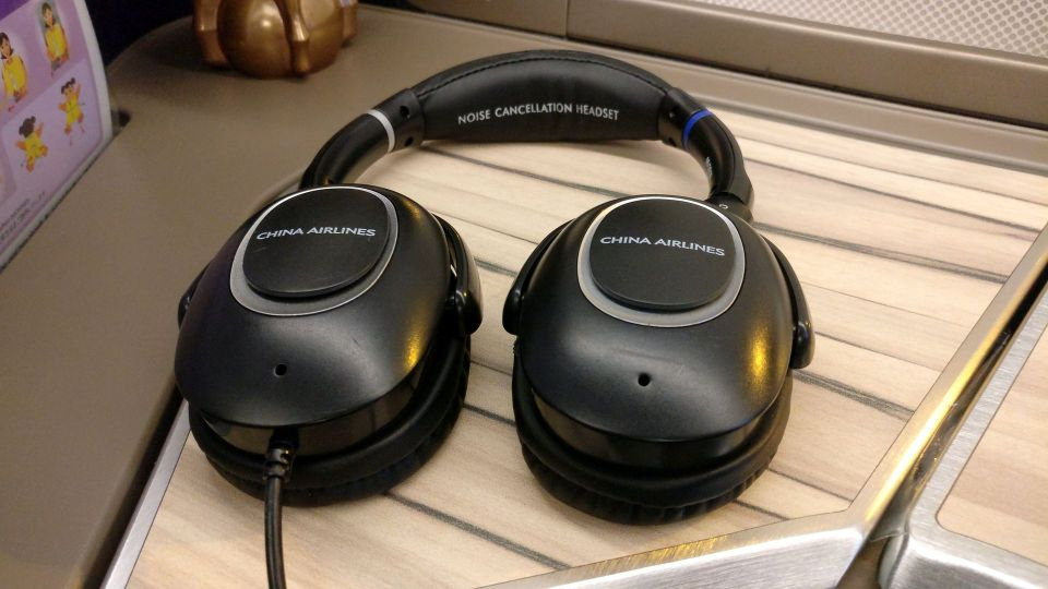 China Airlines Business Class Airbus A350 Headphones
