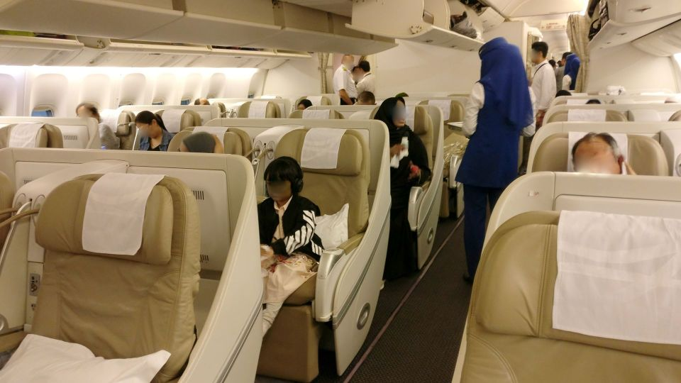 Saudia Business Class Boeing 777 Cabin
