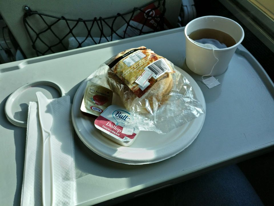 XPT Train First Class Afternoon Tea
