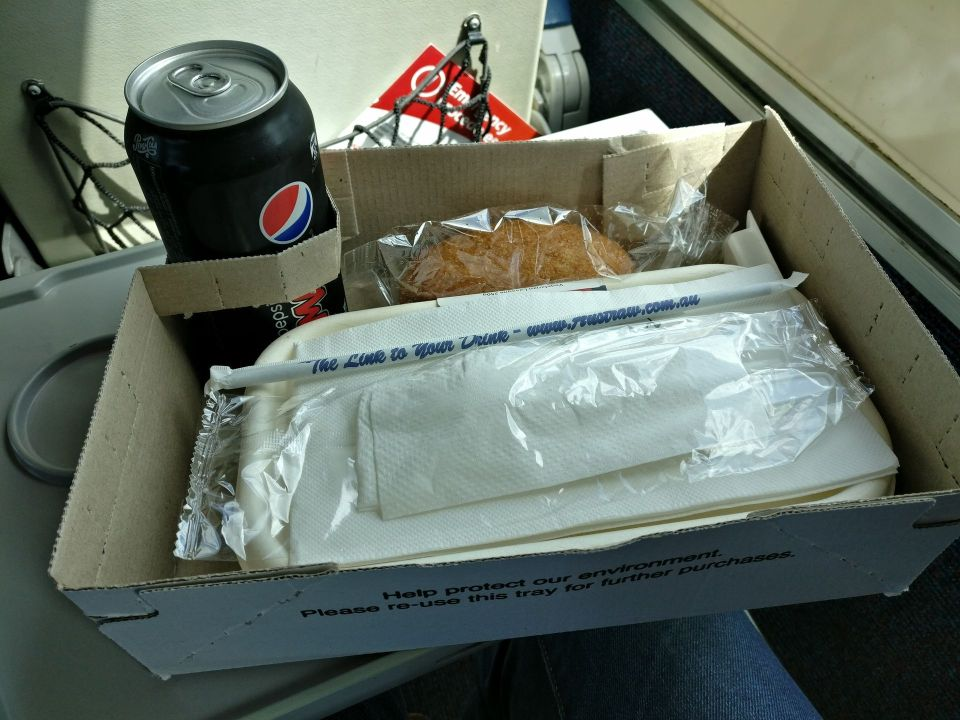 XPT Train First Class Lunch
