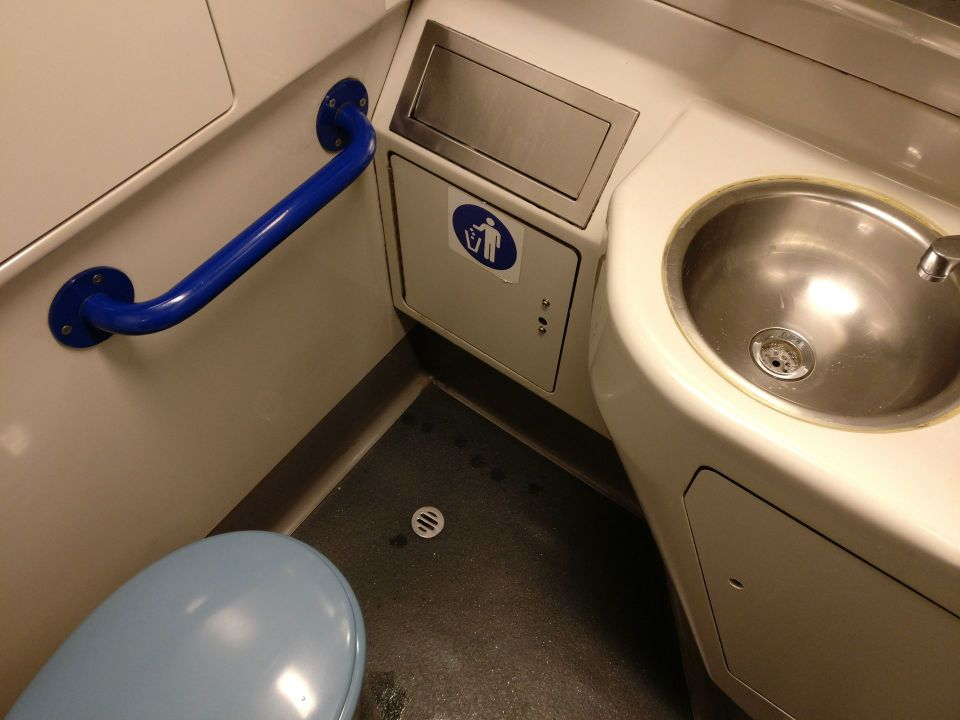 XPT Train First Class Washrooms