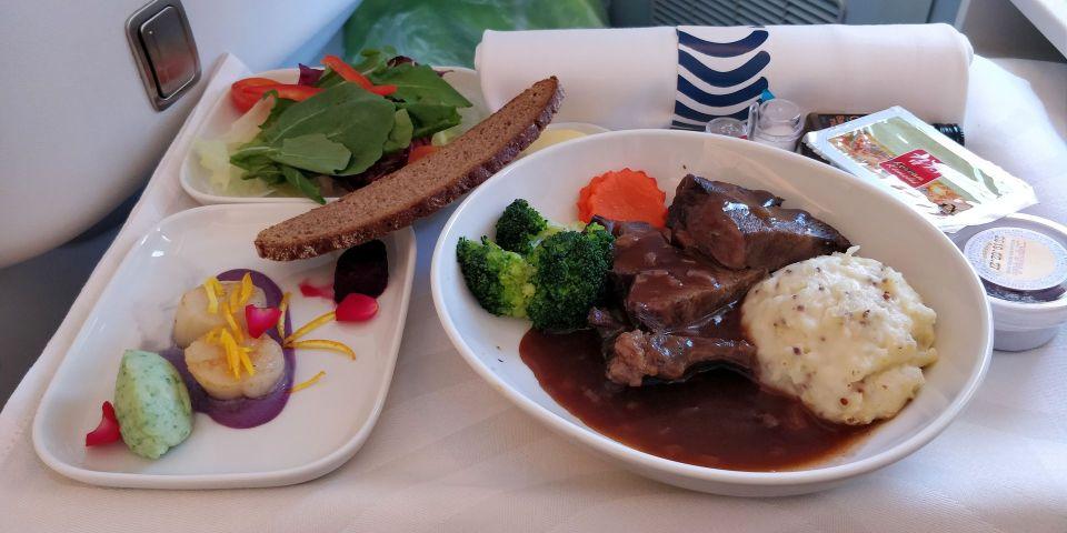 finnair business class airbus a350 meal