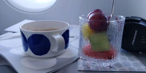 finnair business class airbus a350 snack