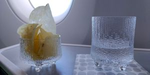finnair business class airbus a350 snack