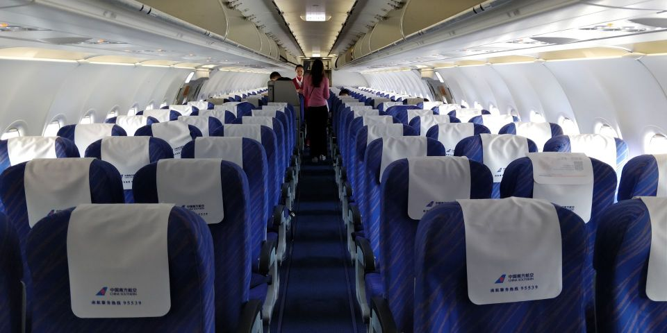 China Southern Airbus A320 Cabin