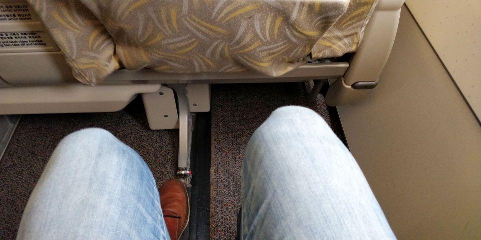 Asiana regional Business Class Seat Pitch