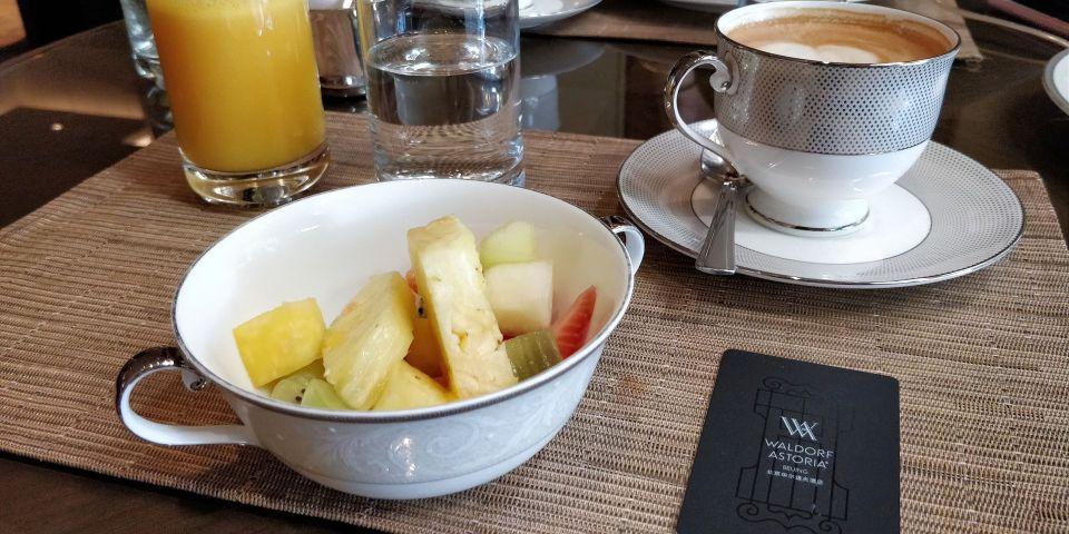 Waldorf Astoria Beijing Breakfast