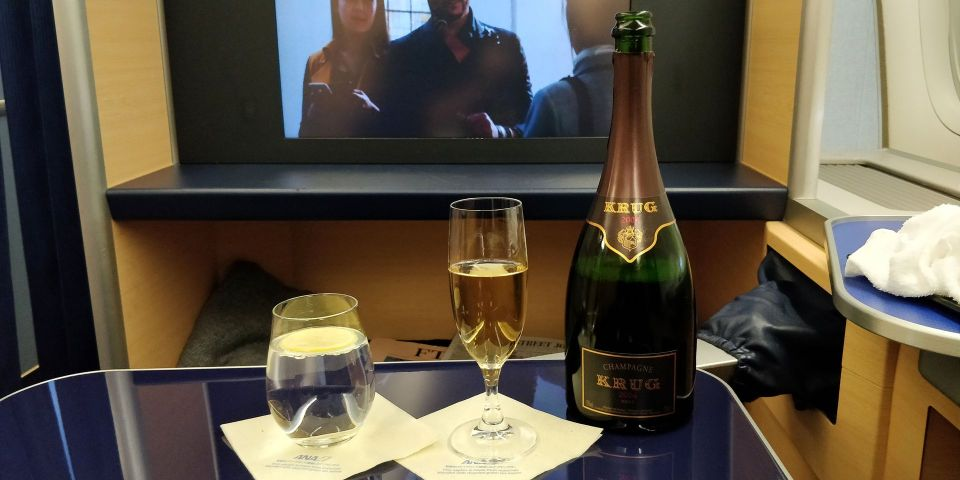 ANA First Class Champagne