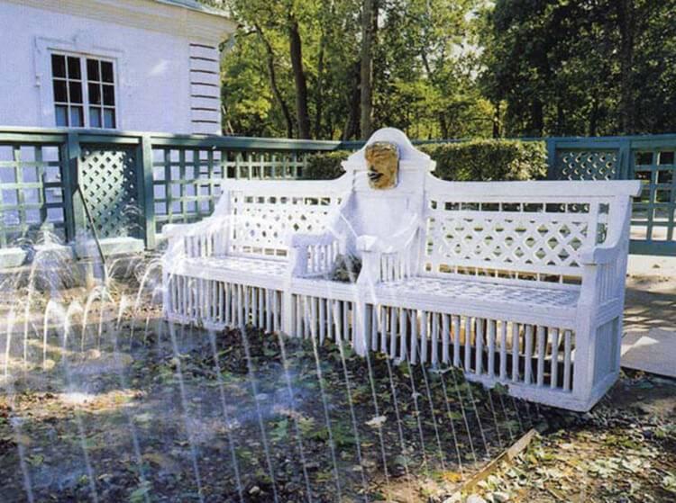 Trick fountain of Monplaisir Garden