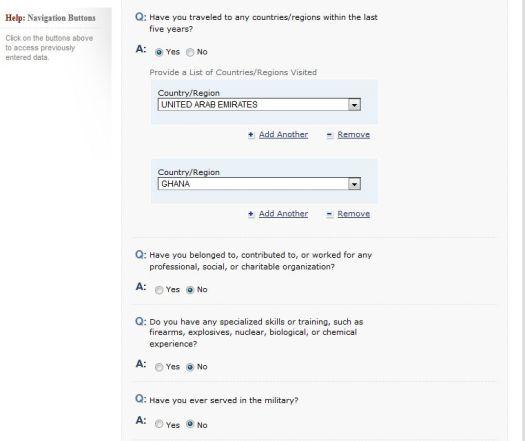 filling your U.S DS160 Visa Application Form