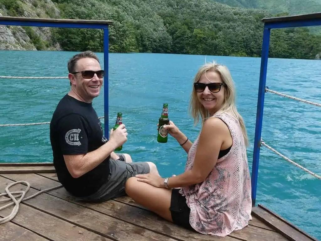 beer on boat montenegro