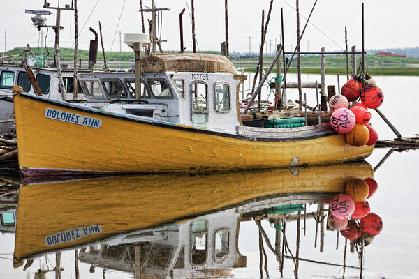 Dolres Ann an old Fishing boat in Nova Scotia, Canada