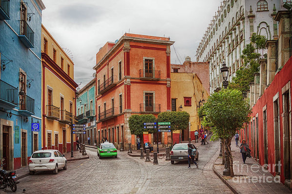 Colorful Street In Guanajuato, Mexico Art Print by Tatiana Travelways
