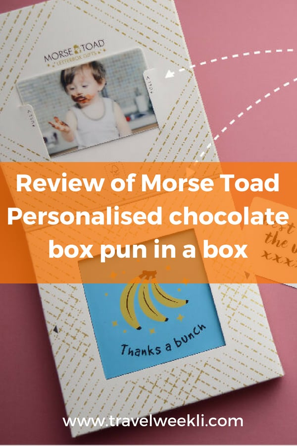 Review of Morse Toad Personalised chocolate box pun in a box